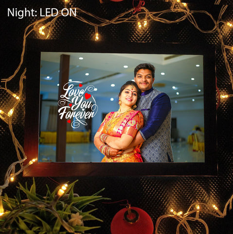 Love You Forever Personalized LED Photo Frame - fabwoods