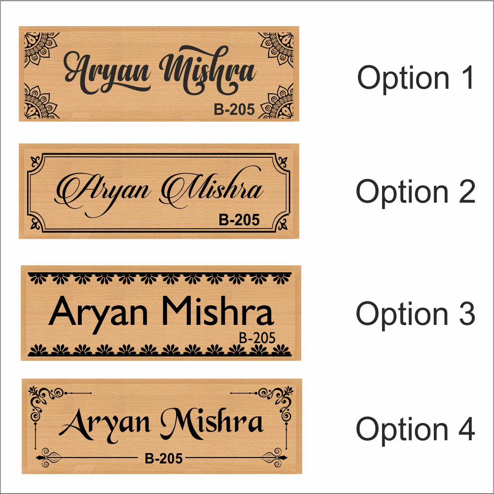 Personalized Wooden Nameplate With Name - fabwoods