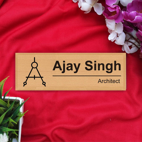 Personalized Wooden Nameplate For Architects - fabwoods