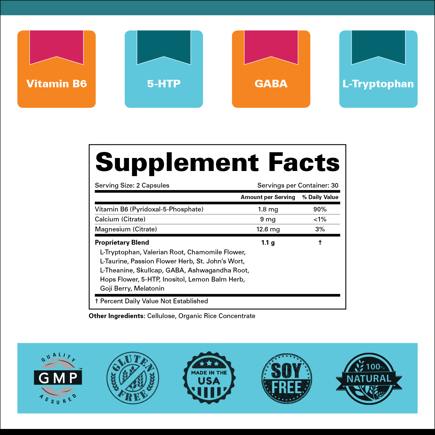 Goodnight Moon™ Natural Sleep Formula Supplement Facts