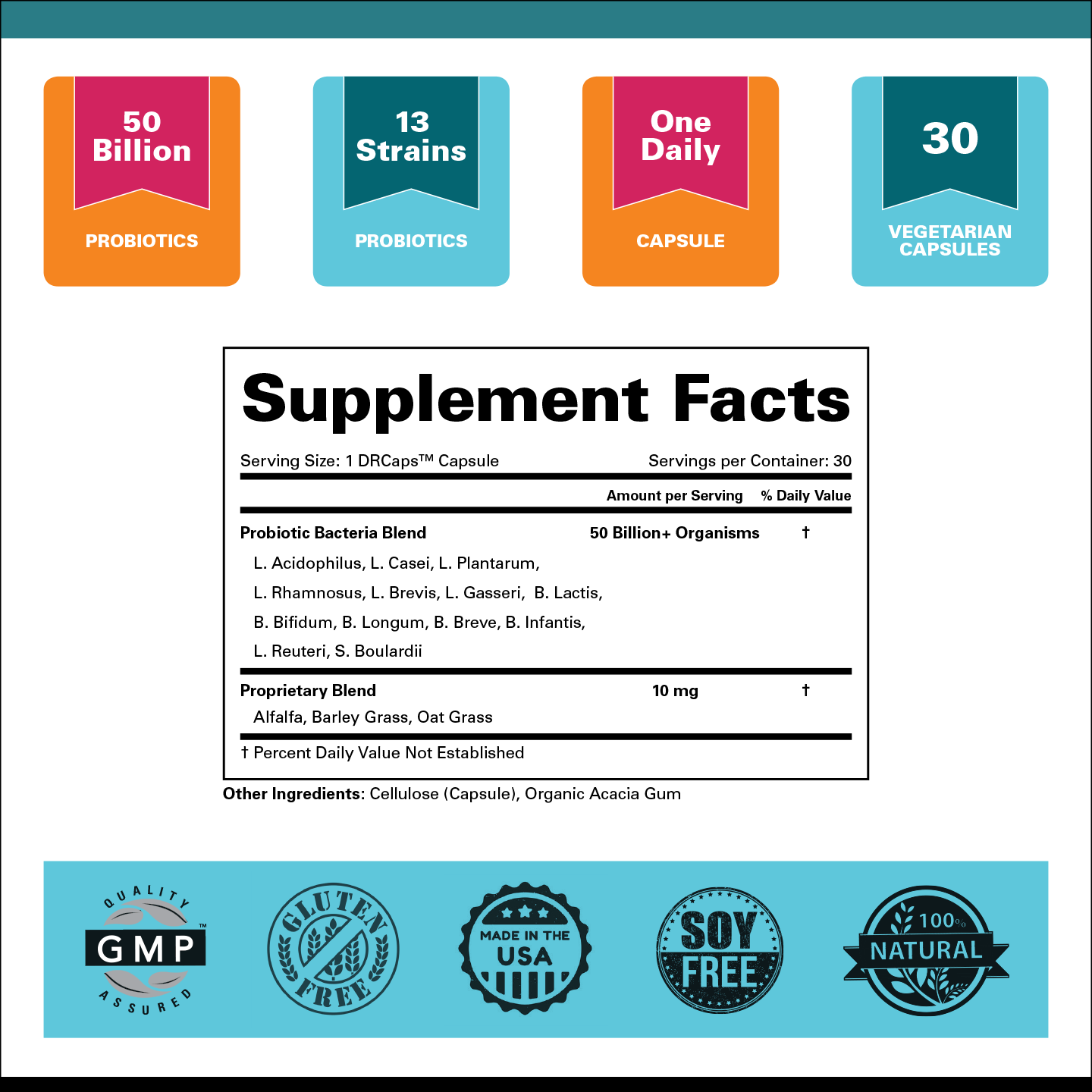 Highly Cultured Women™ Probiotics Supplement Facts