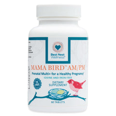 Mama Bird™ AM/PM Prenatal Multi+ Iodine & Iron Free