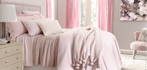 slipper pink bedding