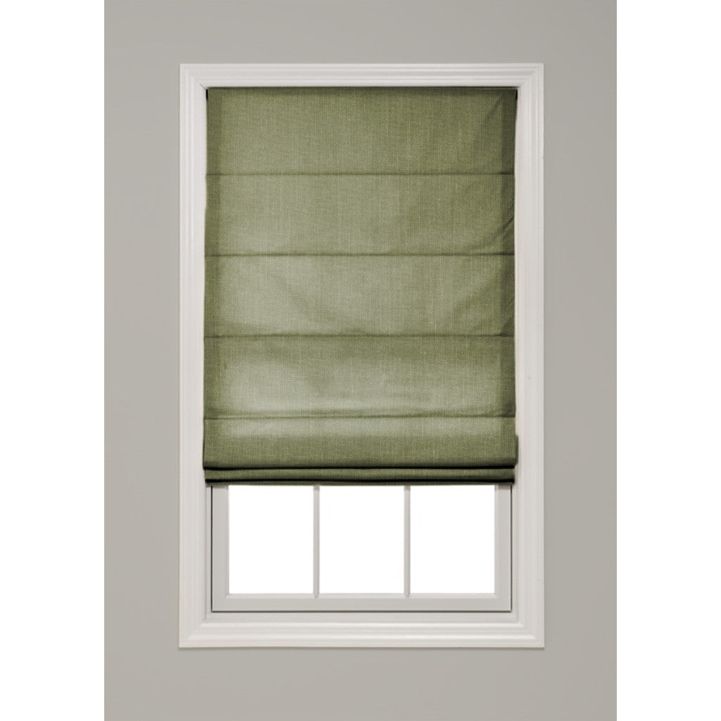 Solid Color Hobbled Roman Shade