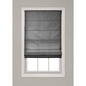 Solid Color Hobbled Roman Shade - Revibe Designs
