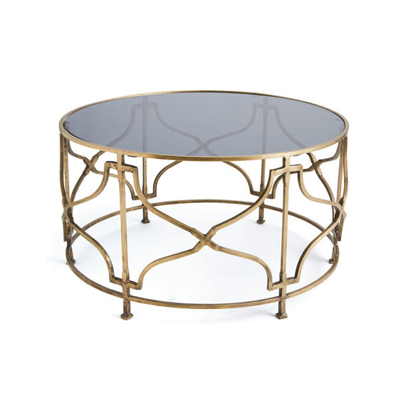 Bradley Brass Coffee Table - Revibe Designs