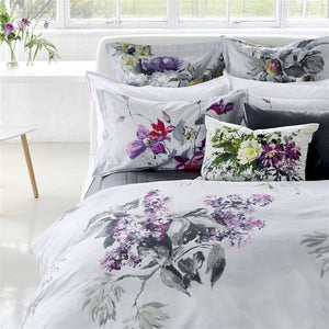 Designers Guild Caprifoglio Argento Standard Pillowcase - Revibe Designs
