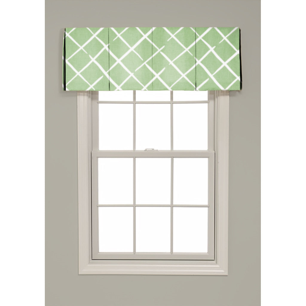 Inverted Box Pleat Cove End Valance