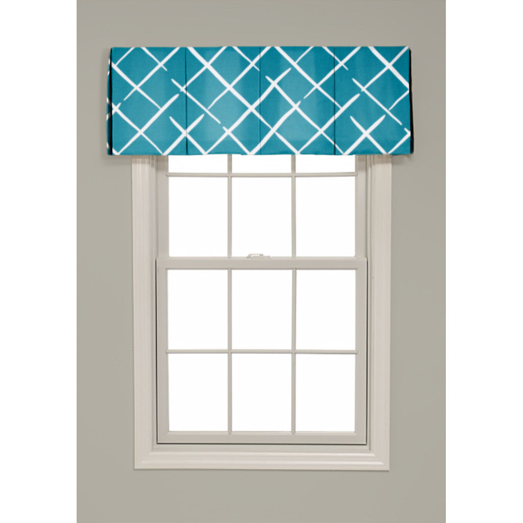 Inverted Box Pleat Cove End Valance - Revibe Designs