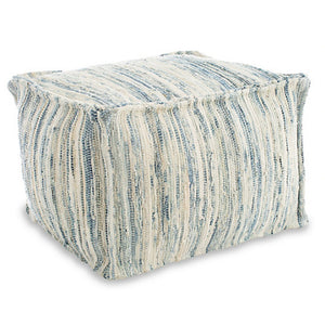 Denim Rag Woven Pouf - Revibe Designs