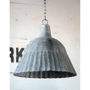 Fluted Galvanized Pendant Light - Revibe Designs