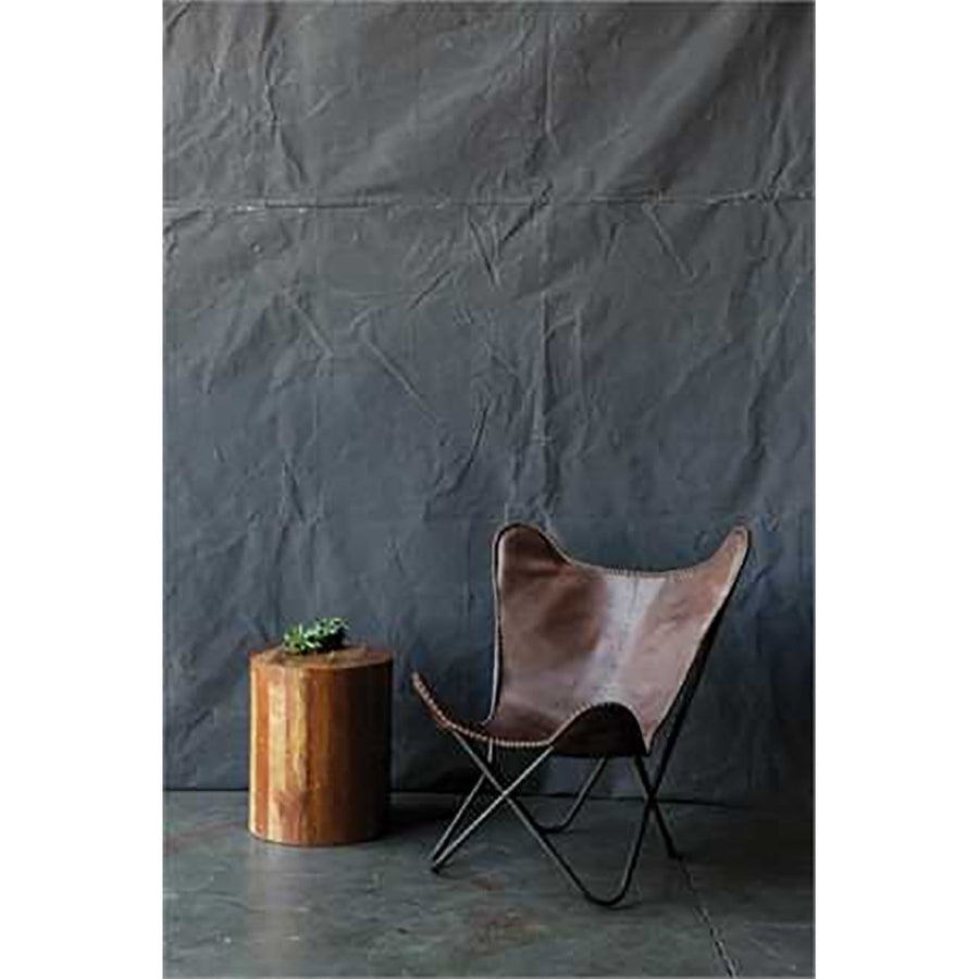 Metal & Leather Butterfly Chair - Revibe Designs