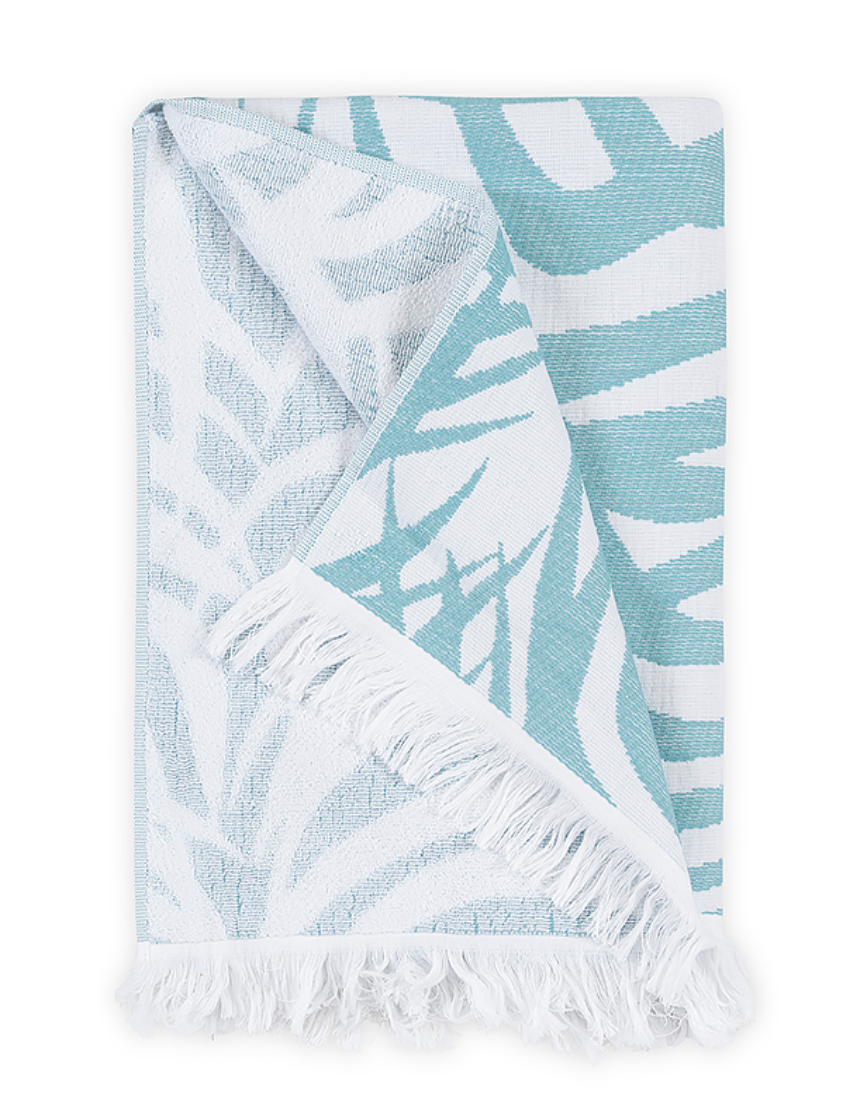 Zebra Palm Beach Towel - Revibe Designs