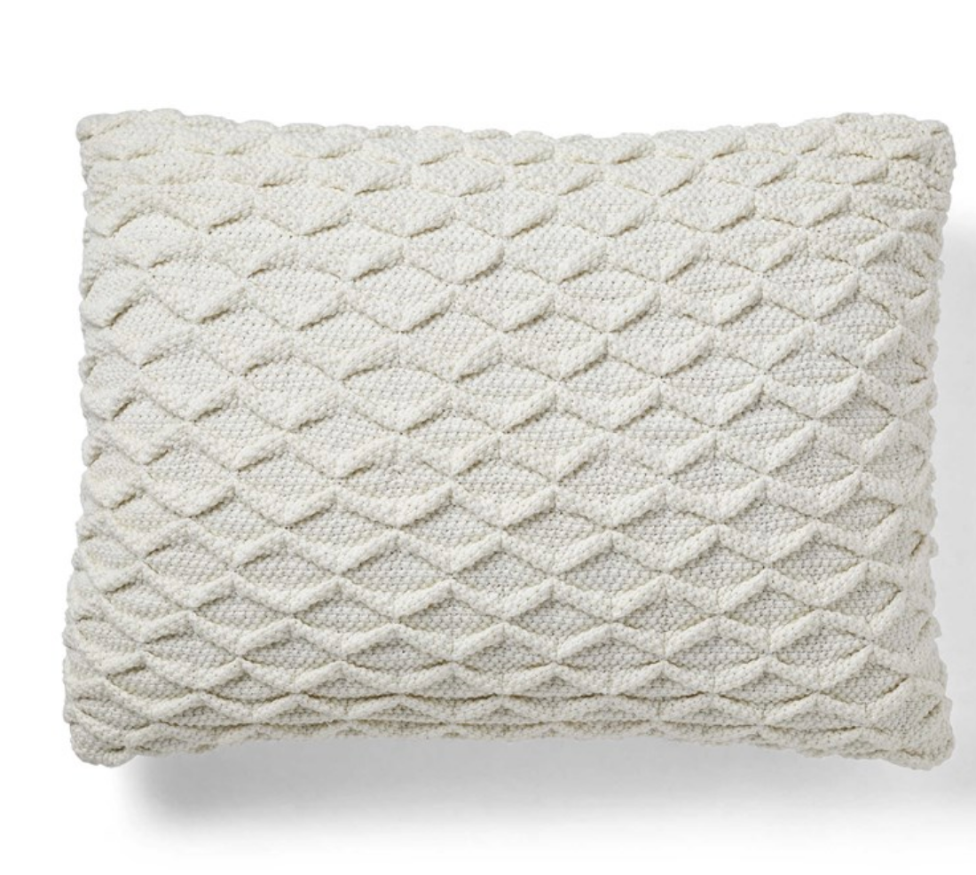 Crochet Lattice Pillow
