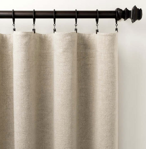 Stone Washed Linen Drapery Panels