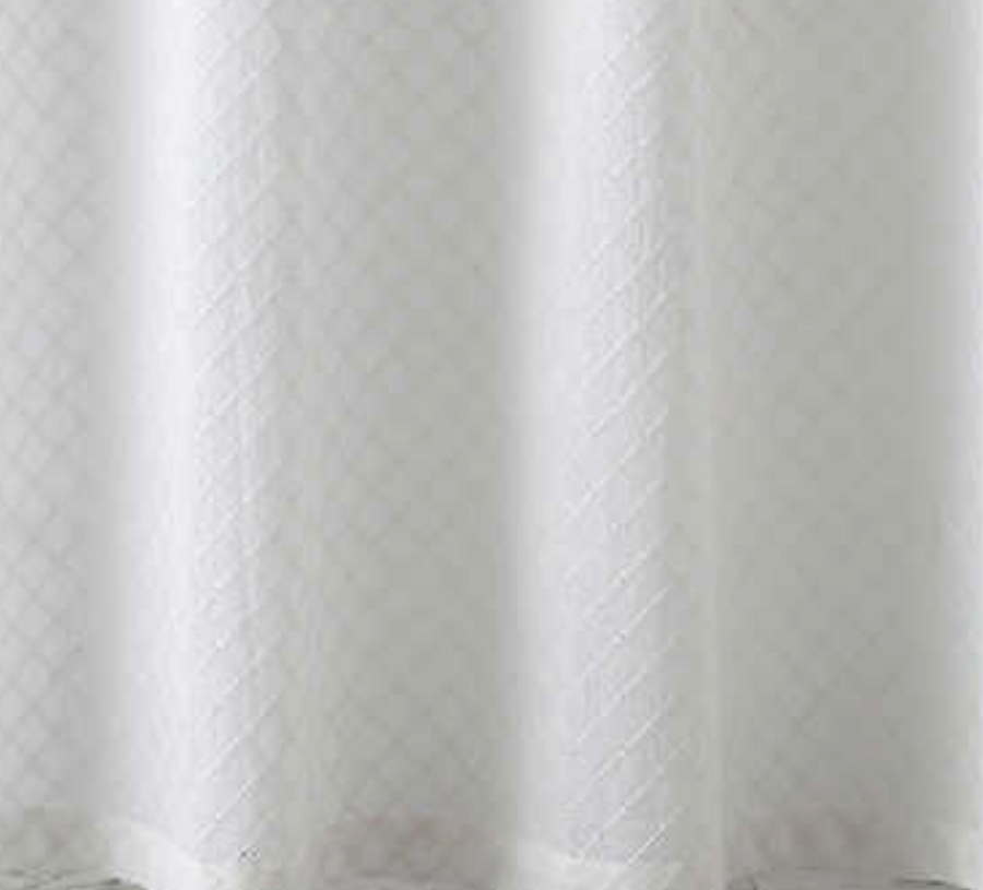 Diamond Eyelet White Shower Curtain