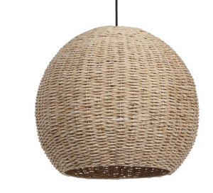 Natural Seagrass Dome Pendant Light