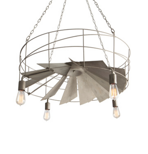 Exhaust Fan FarmStyle Chandelier