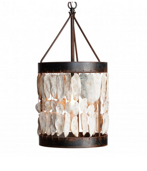 Low Country Shell Drum Pendant Light