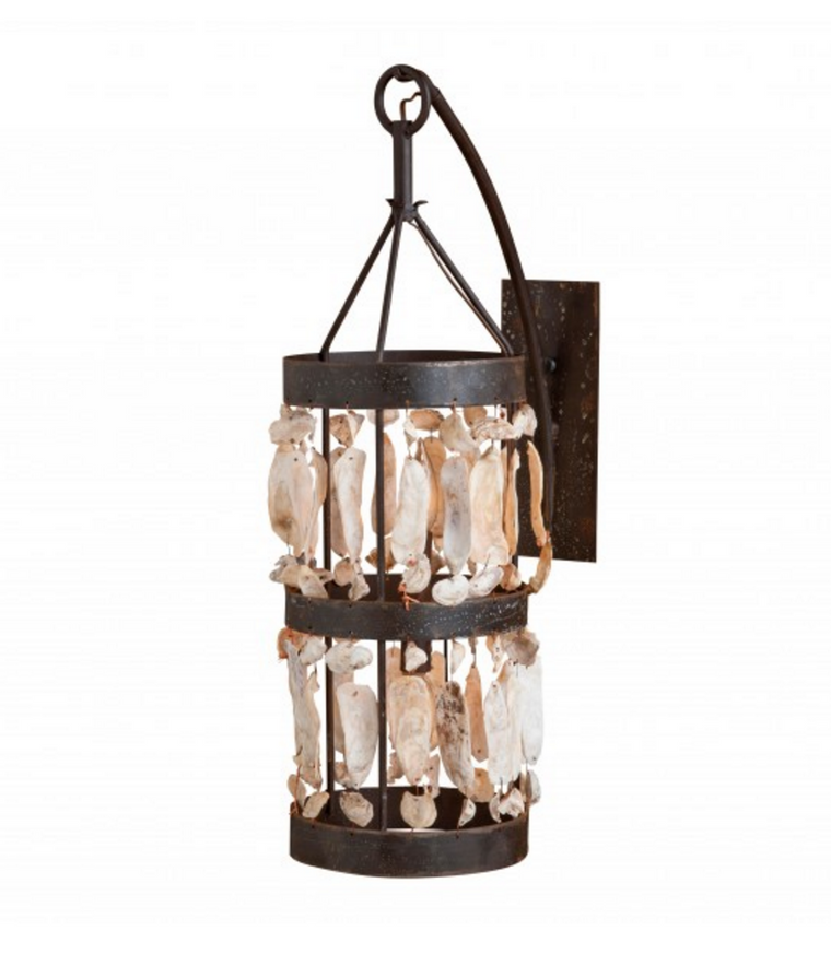 Low Country Shell Cylinder Sconce