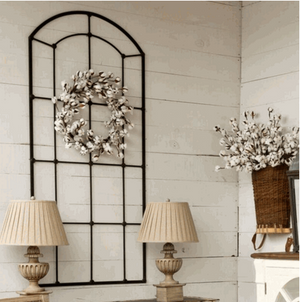 Metal Window Frame Wall Decor