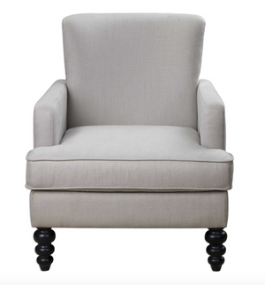 Flanan White Textured Armchair - Revibe Designs