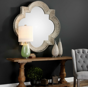 Giadia Large Aged Mirror - Revibe Designs