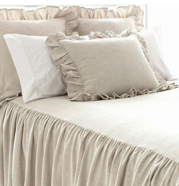 Wilton Cotton Bedspread/ Natural