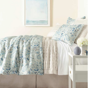 Ines Linen Blue Duvet - Revibe Designs