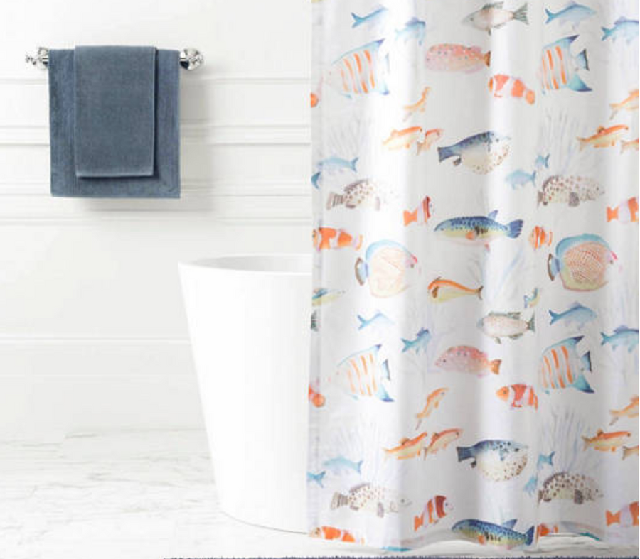 Happy Little Fish Shower Curtain