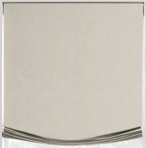Linen Relaxed Roman Shade - Revibe Designs