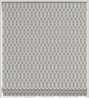Fret Roman Flat Roman Shade - Revibe Designs