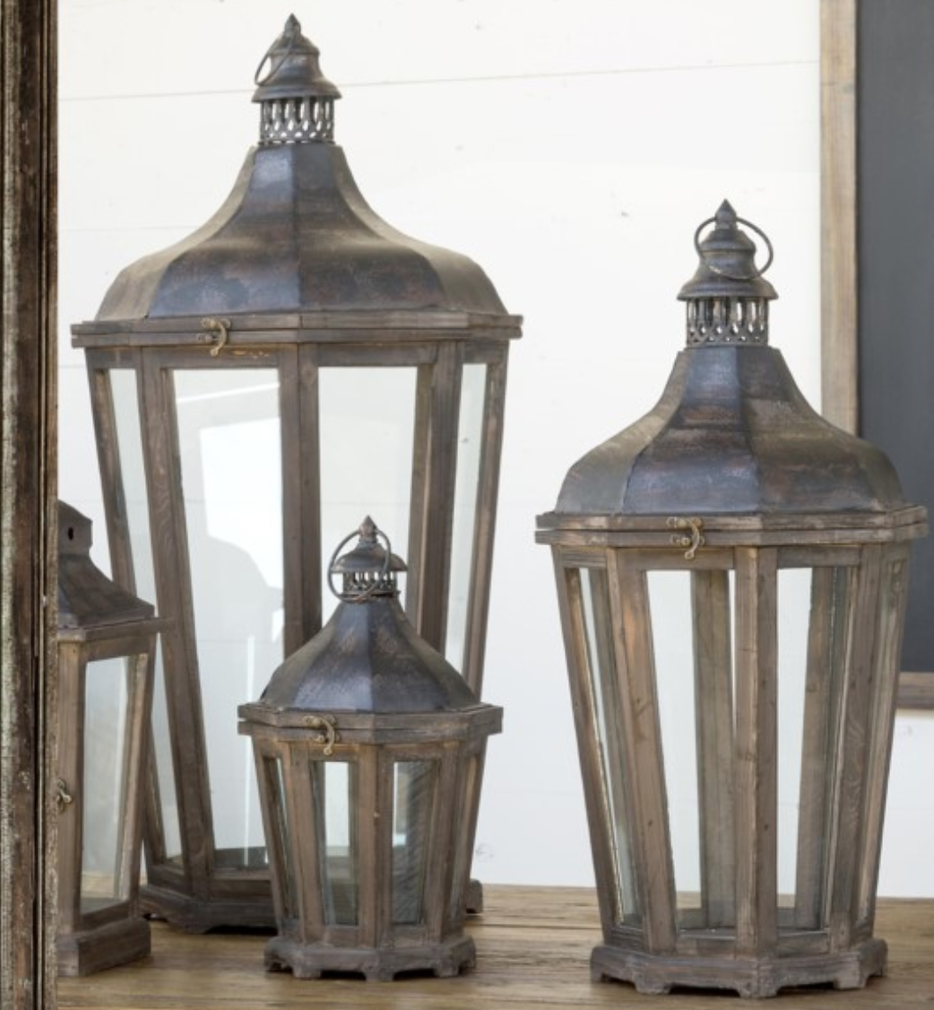 Hill Crest  Lantern  Set of 3 - Revibe Designs