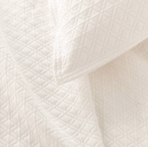 Diamond Matelasse Coverlet - Revibe Designs