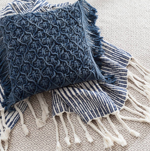 Cozumel Navy Throw - Revibe Designs