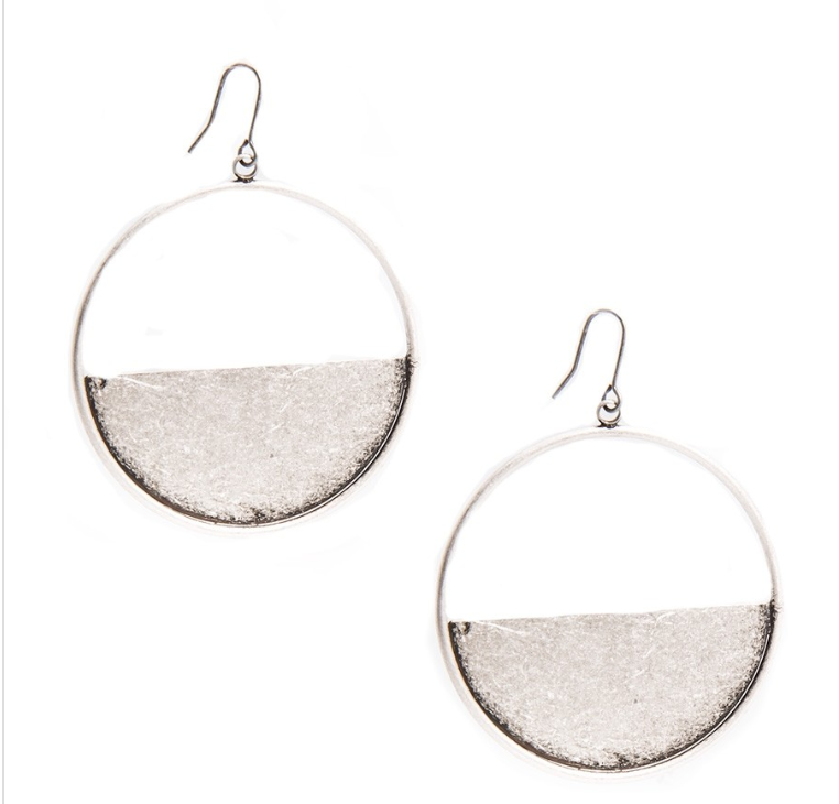 Half Open Shiny Metal Hoop Earrings - Revibe Designs