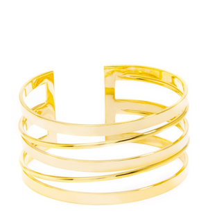 Striped Cutout Cuff Bracelet - Revibe Designs