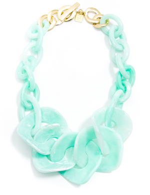 Semi Translucent Marbled Necklace - Revibe Designs