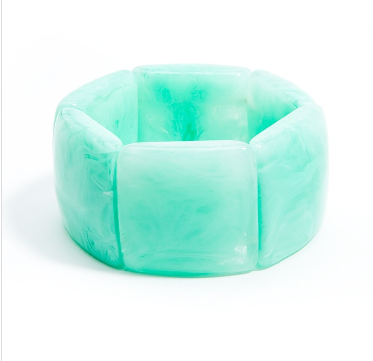 Semi Translucent Marbled Bracelet