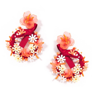 Summer Wreath Earrings - Revibe Designs