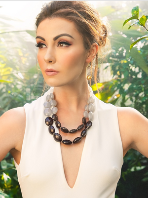 Colorblock Beaded Collar Necklace - Revibe Designs