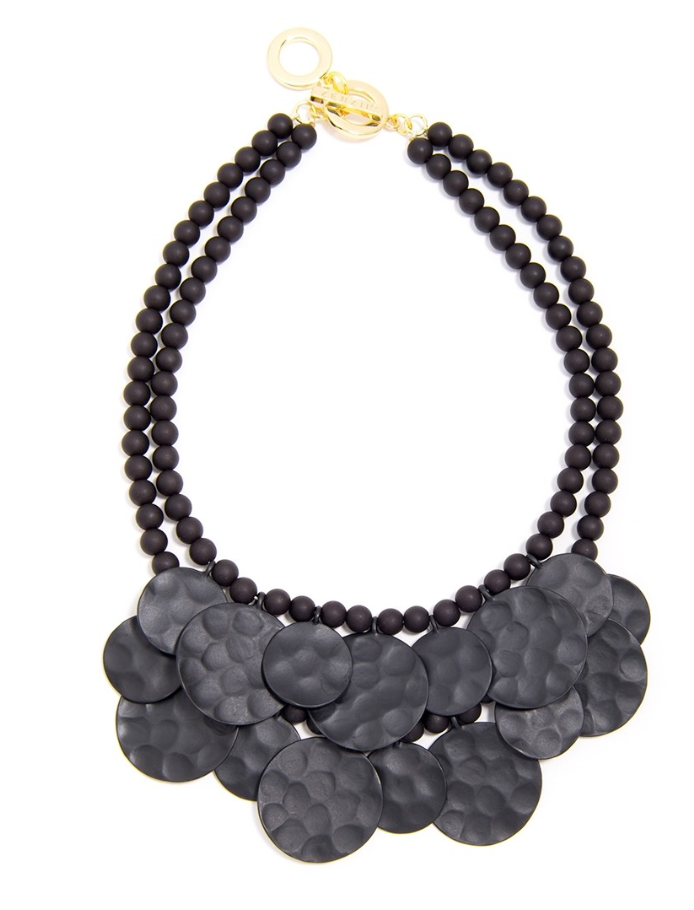 Spring Matte Medallion Bib Necklace - Revibe Designs