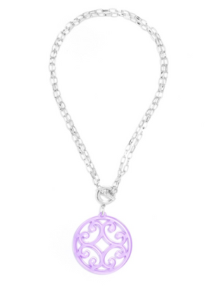 Circle Scroll Pendant Necklace - Revibe Designs