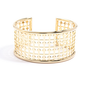 Metallic Lace Cuff Bracelet - Revibe Designs
