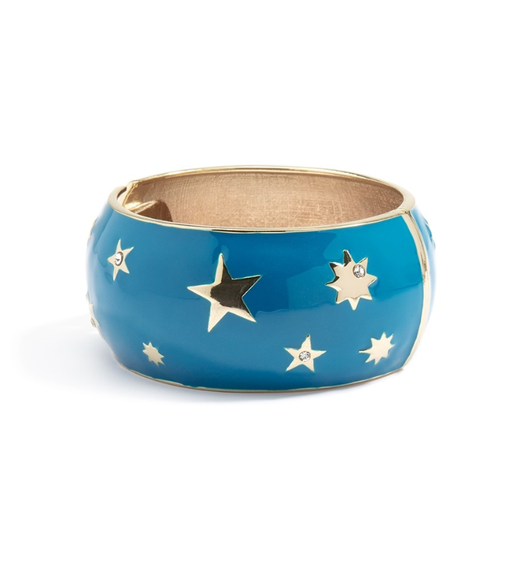 Starry Night Wide Bangle Bracelet