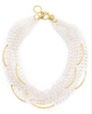 Multi Strand Translucent Beaded Necklace