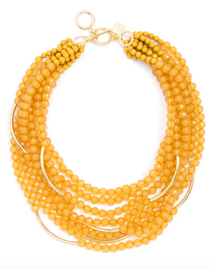 Multi Strand Translucent Beaded Necklace - Revibe Designs