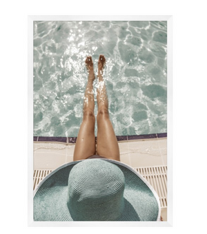 Brigitte By The Pool  Art - Revibe Designs