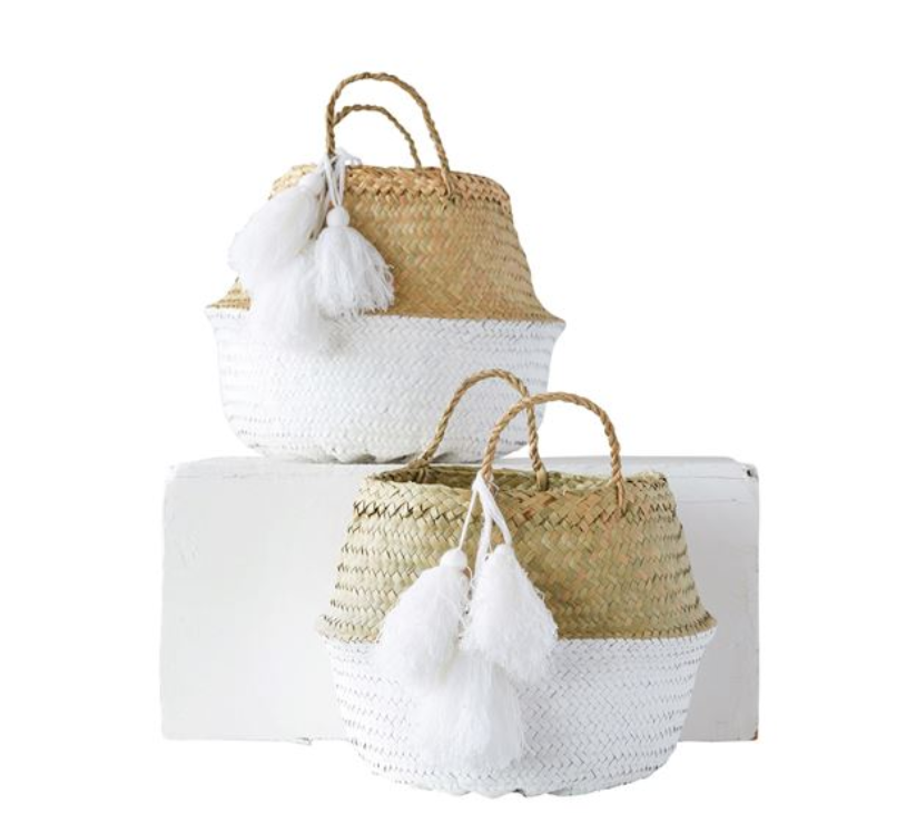 Palm Leaf Baskets         Set of 2 - Revibe Designs