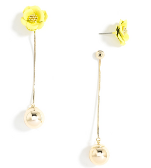 Flower Bud Drop Earrings - Revibe Designs